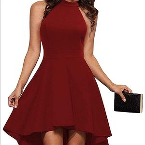 Women's red fit&flare halter dress size medium/6